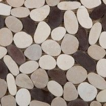Emser Tile:_VENETIAN_PEBBLES(TM)Flat_Pebbles____Gelato_Blend