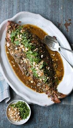 VIETNAMESE-STYLE BAKED WHOLE RED SNAPPER [deliciousmagazine]