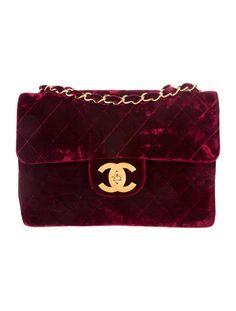 Chanel Velvet Maxi Flap Bag