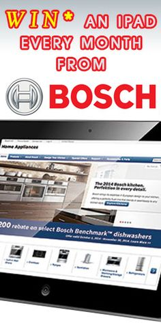 Win an iPad Every Month from Bosch