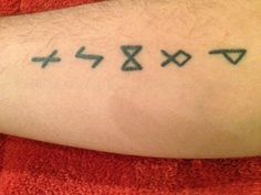 Celtic runes tattoo