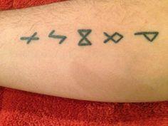 Celtic runes tattoo