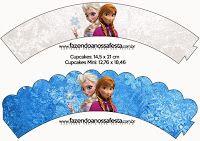 free frozen printable birthday cupcake