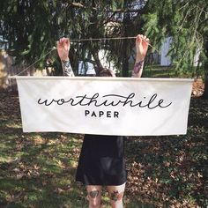We made a big thing! I've been wanting to make a #handmade #banner for craft…
