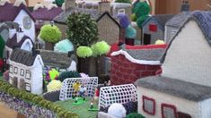 Cloughmills Crochet Club has been keeping 'er knit by creating a model village replica out of wool. Model Village, Straw Bag, Quilts, Wool, Cool Stuff, Knitting, Create, Crochet, Image