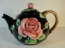 Fitz & Floyd Vintage 1987 Teapot Midnight Rose Mint Condition 48oz   I own this