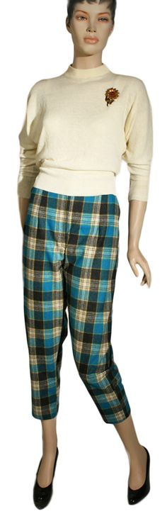 Check out the deal on 1950s Tartan Capri Pants at Ballyhoovintage.com
