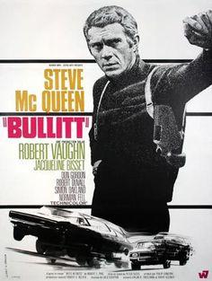 Bullit, Peter Yates (1968) - BO de Lalo Schifrin, affiche par Michel Landi