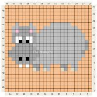 Crochet Animal charts and written colour changes Pixel Crochet, Crochet Chart, Mini Cross Stitch, Cross Stitch Animals, Knitting Charts, Knitting Patterns, Cross Stitch Designs, Cross Stitch Patterns, Cross Stitching