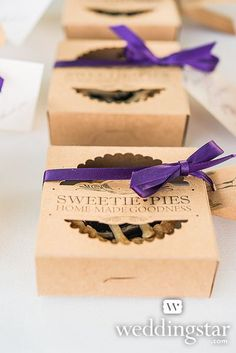 "© weddingstar.com ★ ""Sweetie Pies"" Mini Pie Packaging Kits, Item 9242 ★ Click this image to explore and shop"