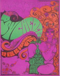 Psychedelic Paris Poster - vintage