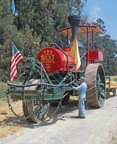 Best of the Best: Best Steam Tractor - Steam Engines - Farm Collector Magazine Antique Tractors, Vintage Tractors, Old Tractors, Vintage Farm, Old Ford Trucks, Diesel Trucks, Pickup Trucks, Old Farm Equipment, Heavy Equipment