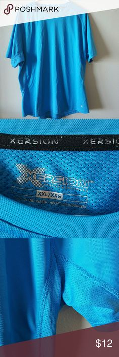 Men's XXL Blue xersion shirt. Great condition! Stay cool with the back netting on the shirt. Great condition! Shirts