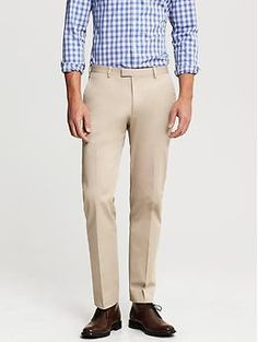 Tailored-Fit Italian Stretch Chino Suit Trouser