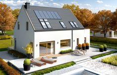 Projekty domów ARCHIPELAG - Oskar (z wiatą) ENERGO PLUS Home Fashion, Ideas Para, Mansions, House Styles, Outdoor Decor, Design, Home Decor, Decoration Home, Manor Houses