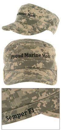 Proud Marine Mom Military Cap at The Veterans Site