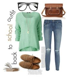 """""""Back to school outfit #3 (requested)"""" by brooke-hilton ❤ liked on Polyvore"""