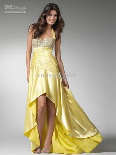 Wholesale 2012 Cheap Halter High low A-Line Ruched Beaded Party Gown Bridesmaid Evening Prom Dresses 1522, Free shipping, $134.4-145.6/Piece | DHgate