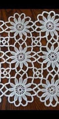 off White Lace Venice Crocheted Lace Fabric with Jewelry Design Crochet Wool, Crochet Motifs, Crochet Squares, Thread Crochet, Crochet Granny, Irish Crochet, Crochet Doilies, Crochet Flowers, Hand Crochet