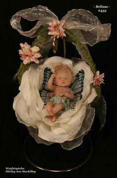 ... fairies fae fairy OOAK art doll baby fairy girl sculpture