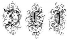 Gothic Letters 2 - Letters D E F