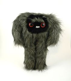Stuffed Yeti Toy Plush Monster Sasquatch Big Foot Stuffed Animal Large Size Toy Childrens Gift Snuggly Kawaii Toy Faux Fur Charcoal Grey by TheJaeBird on Etsy