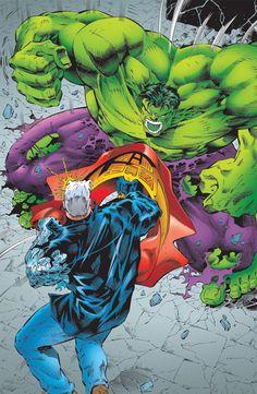 Cable vs. Hulk by Ian Churchill