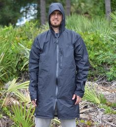 ZPacks.com Ultralight Backpacking Gear - Waterproof Breathable Cuben Fiber Rain Jacket. At around 200 grams you don't have to wear rain trousers and keeps  shorts dry