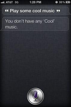 Siri: Play some cool music