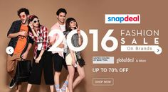 2016 Fashion Sale!! Upto 70% Off On UCB,Global Desi and More Goosedeals is leading destination for cashback coupons and best deals. Goosedeals offering some of the best deals and best products at very affordable prices, also our website is providing discounts with lowest prices.Grab best deals and cashback coupons More Details visit:http://www.goosedeals.com/home/details/snapdeal/161390