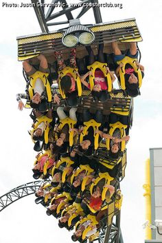 Smiler - Alton Towers (Alton, Staffordshire, England, UK) Smiler has a world record for most inversions with 14 of them