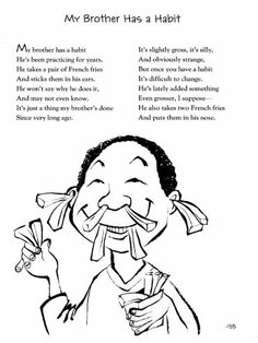 In honor of Jack Prelutsky's birthday tomorrow, I'm serving up a few sample poems from his latest collection, I've Lost My Hippopotamus (Greenwillow, which is brimming… Teaching Poetry, Writing Poetry, Poetry Books, Teaching Tips, Funny Poems For Kids, Silly Poems, Fun Poems, Jack Prelutsky Poems, School