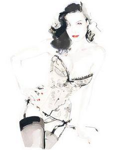 Fashion Illustrations by David Downton~❥