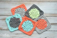 Free Crochet Lace Square Pattern on Cre8tion Crochet