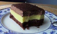 Sernik puchatek na biszkoptowym murzynku z czekoladową pianką