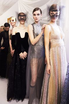 Backstage at the Dior Fall 2018 Haute Couture show in Paris, France on Monday, January 22nd. Photo by Ambra Vernuccio for W Magazine.