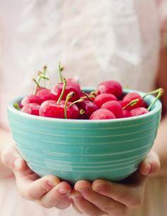 {bowl full of cherries}