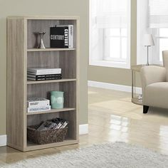 "Natural Reclaimed-Look 48""H Bookcase/Adjustable Shelves"