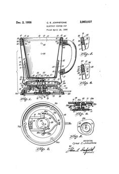 1829 James Carrington of Connecticut patented a coffee