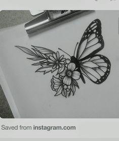 Zentangle Doodle by Lisa Chang Art Drawings Sketches Simple, Pencil Art Drawings, Easy Drawings, Tattoo Drawings, Doodle Art Drawing, Mandala Drawing, Butterfly Drawing, Floral Drawing, Drawings Pinterest