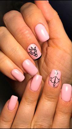 Matte Pink Nails, Blue Acrylic Nails, Summer Acrylic Nails, Green Nails, Acrylic Nail Designs, Summer Nails, Nail Art Designs, Fall Gel Nails, Cute Nails For Fall