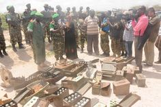 AMISOM troops together with the Somali National Army have today captured an assortment of weapons and ammunition from al Shabaab suspects in the capital Mo Troops, Weapons, Army, Weapons Guns, Gi Joe, Guns, Military, Weapon, Gun