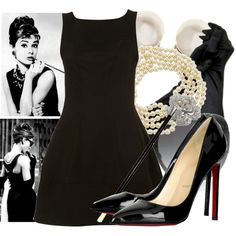 outfits audrey black dress - Google Search