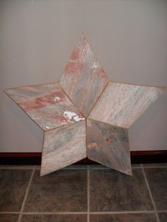 Barn wood star, this would be cute with wood