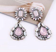 Yasurs™ 2014 New Fashion New Arrived Fashion Exquisite Atmosphere Inlay Rhinestone Gem Flower Earring. http://www.yasurs.com/yasurstm-2014-new-fashion-new-arrived-fashion-exquisite-atmosphere-inlay-rhinestone-gem-flower-earring.html #jewelry