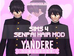 yandere simulator senpai male hair mod sims 4 sims4 cc download sims 4 sims4 yansim