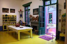frida kahlo interiors dining room