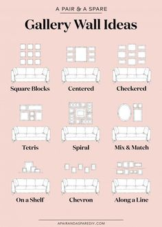 One pair & one spare part 9 ways to lay out your gallery wall # . - One pair & one spare part 9 options for the layout of your gallery wall # Gallery furniture - Gallery Wall Layout, Gallery Walls, Living Room Gallery Wall, Picture Wall Living Room, Picture Walls, Photo Walls, Living Room Wall Ideas, Living Room Pictures, Small Living Rooms