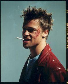 "Brad Pitt as Tyler Durden from ""Fight Club""."