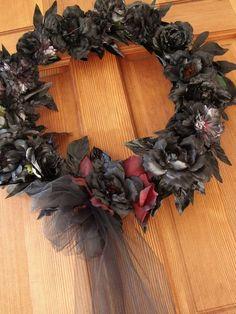 Halloween Funeral Wreath style